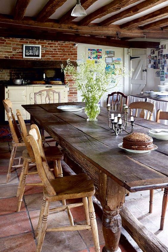 Opting for the Traditional looking kitchen table