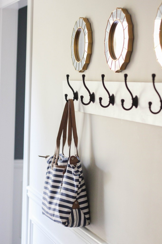 Well-placed set of coat hooks will do wonders for storage