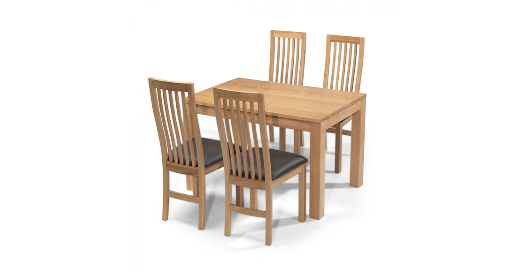 Excellent Cuba Oak 160 Cm Dining Table And 4 Chairs Download Free Architecture Designs Viewormadebymaigaardcom