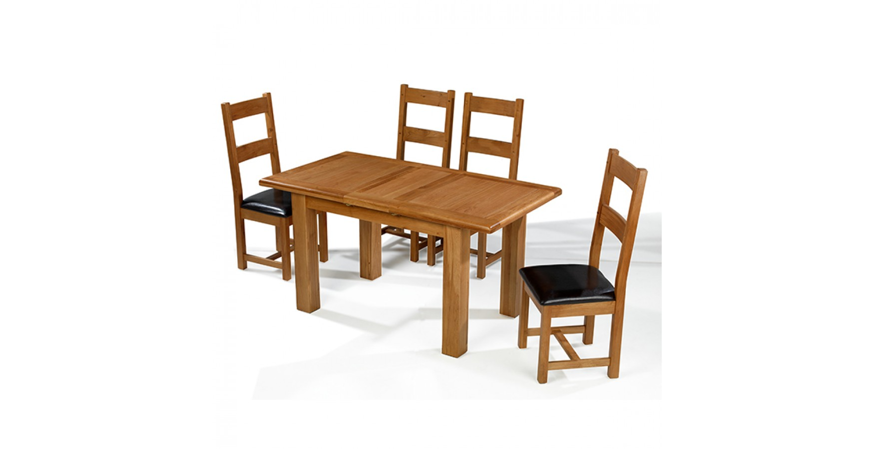 Emsworth Oak 132 198 Cm Extending Dining Table And 4 Chairs