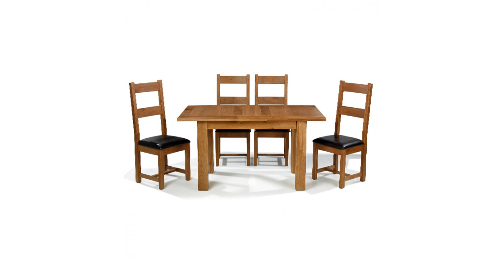 Emsworth Oak 120 150 Cm Extending Dining Table And 4 Chairs Lifestyle Furniture Uk