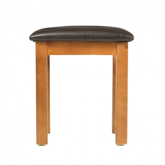 Chunky Pine Dressing Table Stool