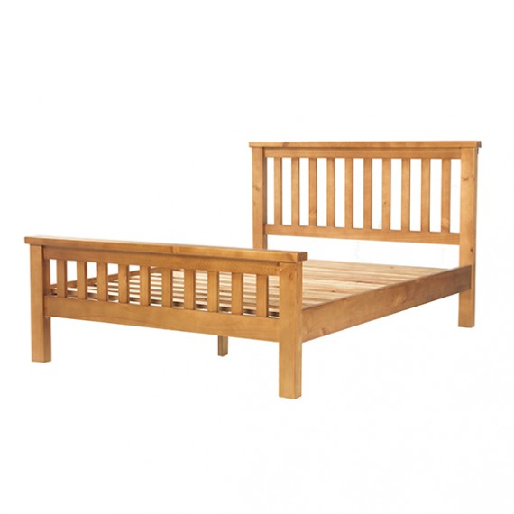 "Chunky Pine Double Bed (4' 6"")"