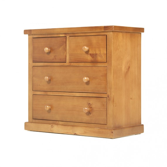 Chunky Pine 2 Over 2 Chest of Drawers