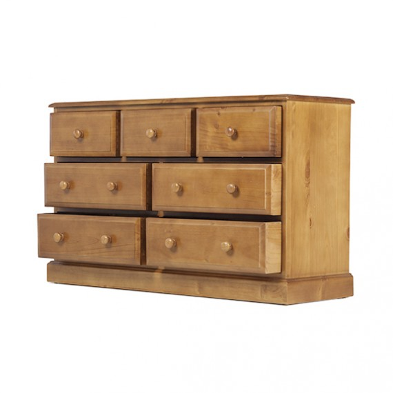 Country Pine 3 Over 4 Chest of Drawers