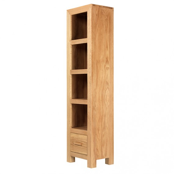 Cuba Oak Slim Jim Bookcase