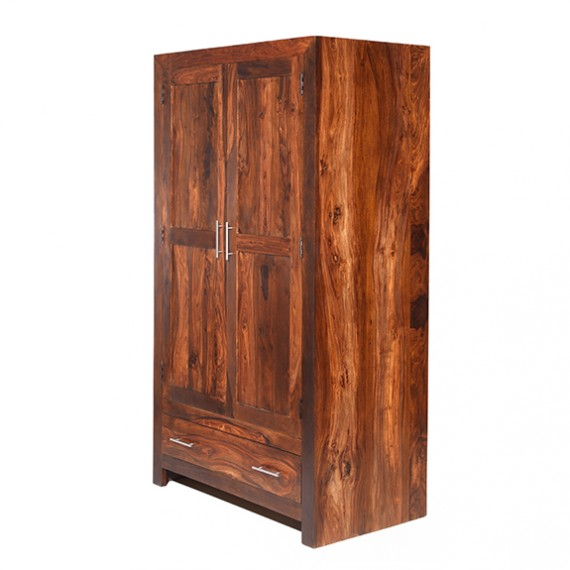 Cuba Sheesham Gents Double Wardrobe