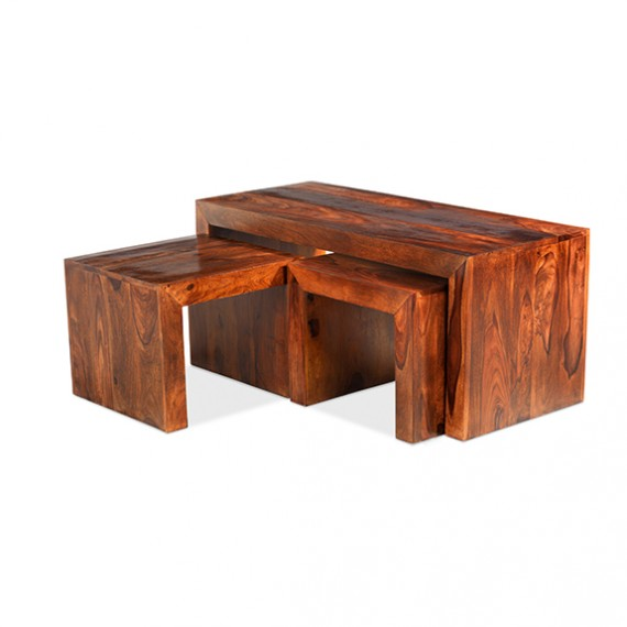 Cuba Sheesham Long John Coffee Table