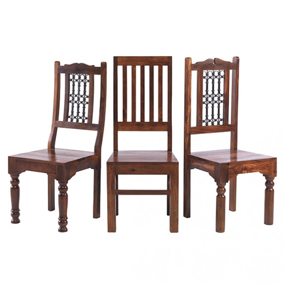 Jali Sheesham 180 cm Chunky Dining Table and 8 Chairs