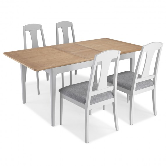 Elstead Painted Extended Dining Table With 4 Chairs