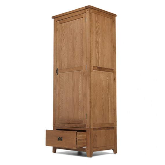 Rustic Oak Single Wardrobe