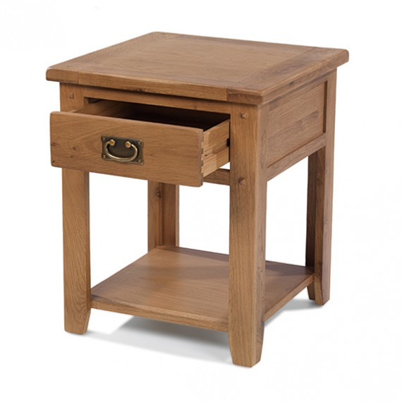 Rustic Oak 1 Drawer Bedside Table
