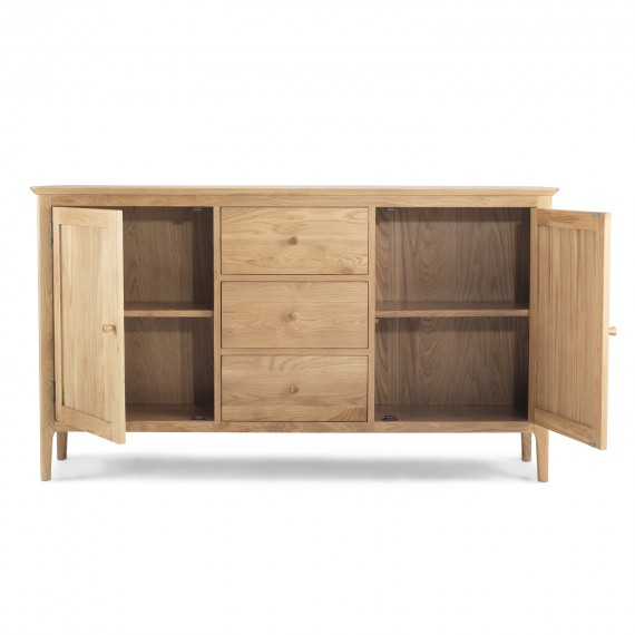 Enfield Oak Large Sideboard 2 Door/ 3 Drawers