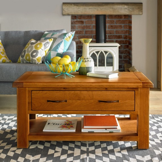 Emsworth Oak Coffee Table with 2 Drawers