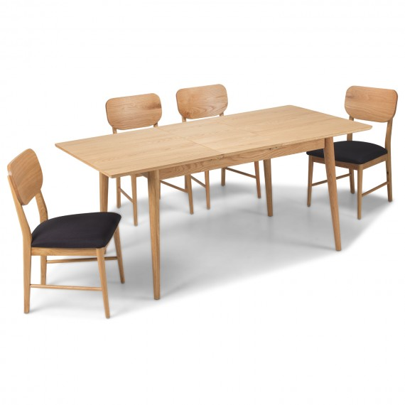 Skioa Oak Extended Dining Table with 6 Chairs
