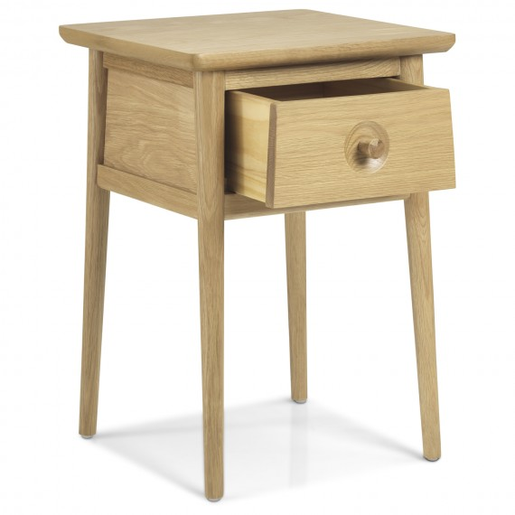 Skioa Oak Lamp Table With Drawer
