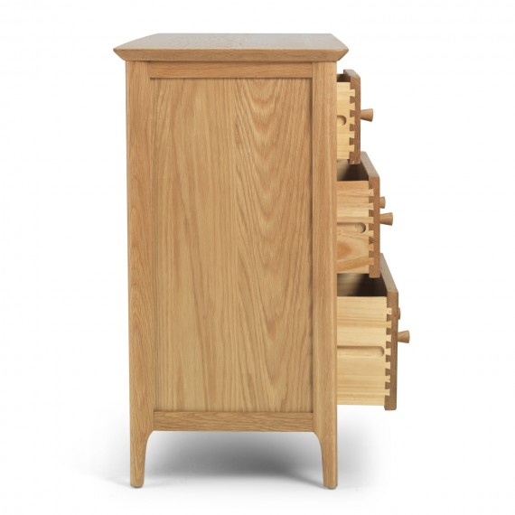 Danbury Oak 3 over 4 Chest of Drawers