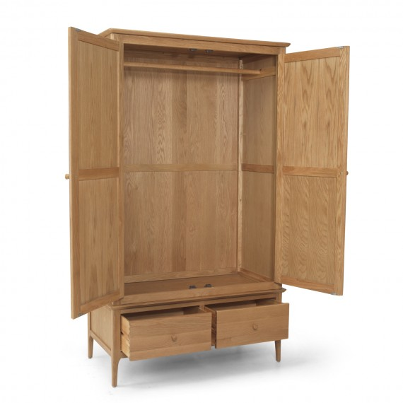 Danbury Oak Double Wardrobe with Drawer
