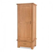 Kingham Oak Single Wardrobe with Drawer