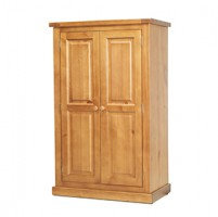 Chunky Pine Kids Double Wardrobe