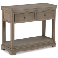Loraine Oak Living & Dining Console Table 2 Drawers