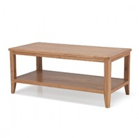 Cadley Oak Coffee Table with Shelf