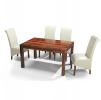 Cuba Sheesham 140 cm Dining Table and 4 Chairs