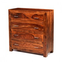 Cuba Sheesham 4 Drawer Chest of Drawers
