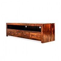 Cuba Sheesham Long Plasma TV Cabinet