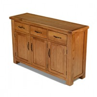 Emsworth Oak Large 3 Door, 3 Drawer Sideboard