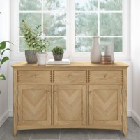 Parquet Oak Large 3 Drawer Sideboard
