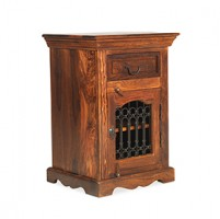 Jali Sheesham Bedside Cabinet - Right