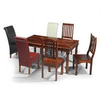 Jali Sheesham 120 cm Thakat Dining Table and 4 Chairs