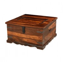 Jali Sheesham Square Coffee Trunk Box