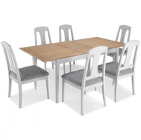 Elstead Painted Extended Dining Table With 6 Chairs