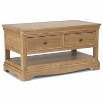 Loraine Natural Oak Living & Dining Coffee Table With  2 Drawers
