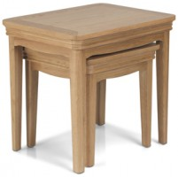 Loraine Natural Oak Living & Dining Nest Of 2 Tables