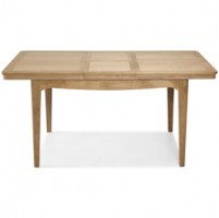 Loraine Natural Oak Living & Dining Ext Dining Table 125/165cm