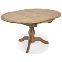 Loraine Natural Oak Living & Dining Circular Extended Dining Table