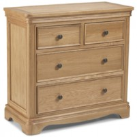 Loraine Natural Oak Bedroom 2 Over 2 Chest