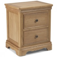 Loraine Natural Oak Bedroom Bedside Cabinet