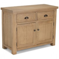 Howland Rough Sawn Oak 2 Drawer 2 Door Sideboard