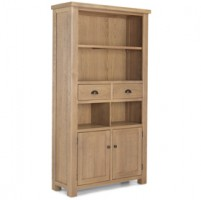 Howland Rough Sawn Oak Tall Bookcase