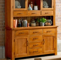 Emsworth Oak Large 2 Door, 6 Drawer Sideboard
