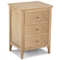 Enfield Oak 3 Drawer Bedside Cabinet