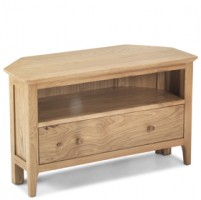 Enfield Oak Corner TV Unit with Drawers
