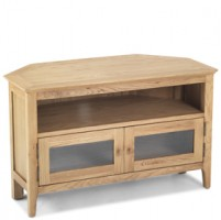 Enfield Oak Corner TV Unit with Doors