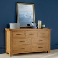 Kingham Oak 7 Drawer Chest