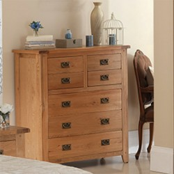 Rustic Oak 4 Over 3 Chest of Drawers