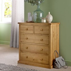 Chunky Pine 2 Over 3 Chest of Drawers